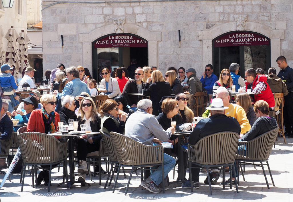Cafe in Dubrovnik, perfect solo travel destination