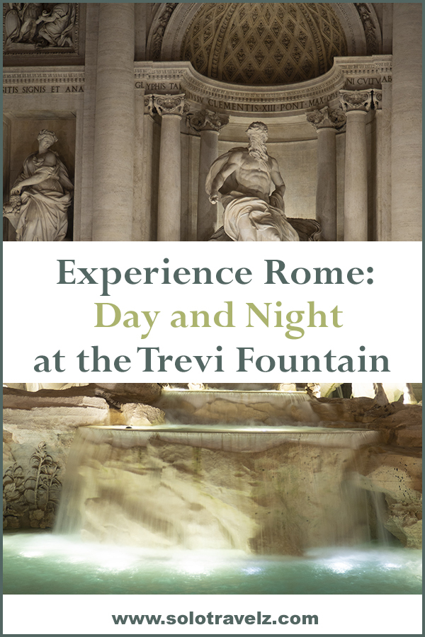 Slow travel and solo travel, spend 24 hours with the Trevi Fountain in Rome. Discover a new experience in Rome.