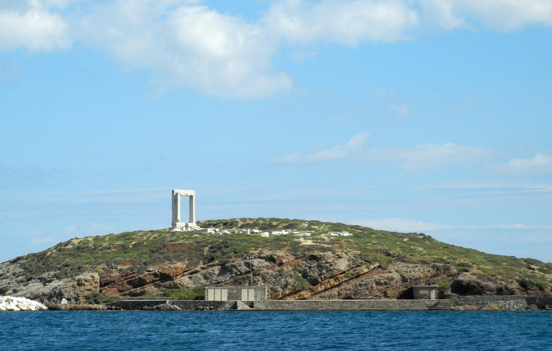 Naxos Portara, 6th century gateway into a temple dedicated to Apollo
